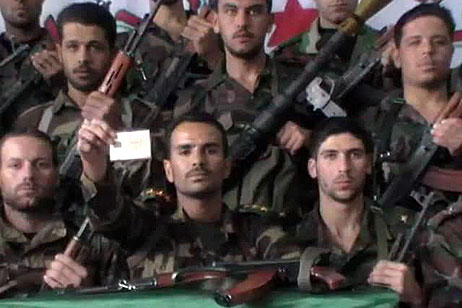Members of Free Syrian Army- military wing of the opposition